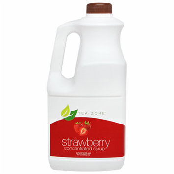 Tea Zone STRAWBERRY Concentrated Real Fruit Juice Syrup 64 Fl. Oz.
