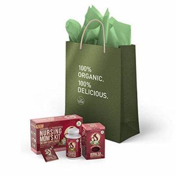 Kiss Me Organics Nursing Mom's Tea Kit Gift Set - Natural Remedy for Increasing Breastmilk Supply - 120 Fenugreek Capsules 60 Tea Bags (30 day supply)