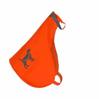 HQRP Orange Reflective Safety Dog Vest for Protecting Pets From Dangerous Road or Hunting Accidents