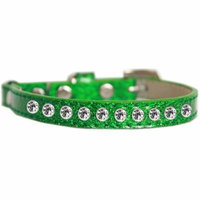 Clear Jewel Ice Cream Cat Safety Collar Emerald Green Size 10
