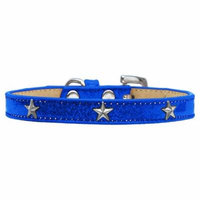 Silver Star Widget Dog Collar Blue Ice Cream Size 18