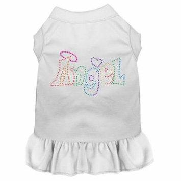 Technicolor Angel Rhinestone Pet Dress White Med (12)