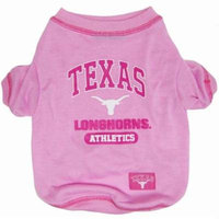 Texas Longhorns Pink Dog Tee Shirt - Medium