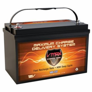 VMAX MR137-120 Battery Replaces O'Reilly AGM31T Battery, VMAX 12V 120Ah Group 31 Deep Cycle AGM