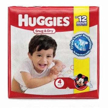 Huggies Snug & Dry Baby Diapers, Size 4 (23-37 Lbs) - Case of 108