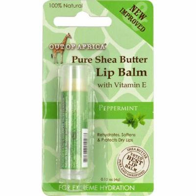 Out Of Africa Pure Shea Butter Lip Balm Peppermint -- 0.15 oz (pack of 12)