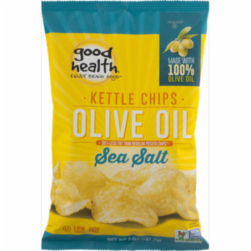 Good Health Olive Oil Kettle Style Chips with Sea Salt 5 oz. Bag (3 Bags)