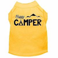 Happy Camper Screen Print Dog Shirt Yellow Med (12)