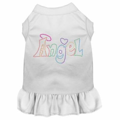 Technicolor Angel Rhinestone Pet Dress White 4x (22)
