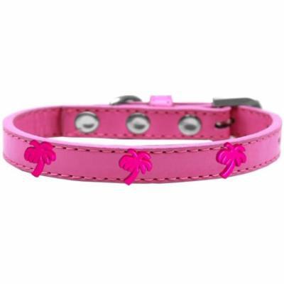 Pink Palm Tree Widget Dog Collar Bright Pink Size 10