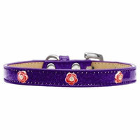 Red Rose Widget Dog Collar Purple Ice Cream Size 16