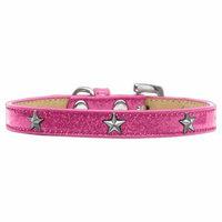 Silver Star Widget Dog Collar Pink Ice Cream Size 20