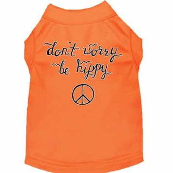 Be Hippy Screen Print Dog Shirt Orange Lg (14)
