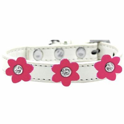 Flower Premium Collar White With Pink Flowers Size 20