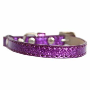Ice Cream Plain Cat Safety Collar Purple Size 12