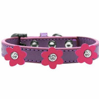 Flower Premium Collar Lavender With Pink Flowers Size 18