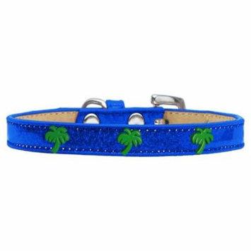 Green Palm Tree Widget Dog Collar Blue Ice Cream Size 16