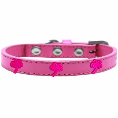 Pink Palm Tree Widget Dog Collar Bright Pink Size 20