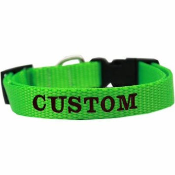 Custom Embroidered Made In The Usa Nylon Dog Collar Sm Hot Lime Green