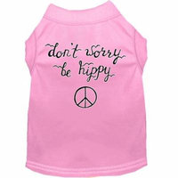 Be Hippy Screen Print Dog Shirt Light Pink Xxl (18)