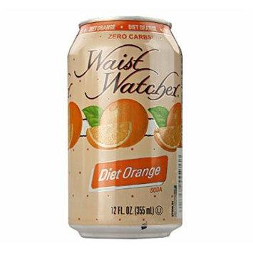 Waist Watcher Caffeine-Free Diet Orange Soda, 12 Oz. Cans (Case of 24)