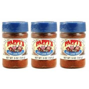 Pappys Choice 50% Less Salt Seasoning 5 oz (Pack of 3)