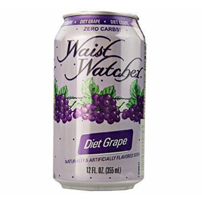 Waist Watcher Caffeine-Free Diet Grape Soda, 12 Oz. Cans (Case of 24)