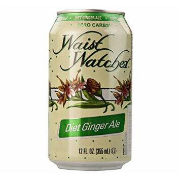 Waist Watcher Caffeine-Free Diet Ginger Ale, 12 Oz. Cans (Pack of 12)
