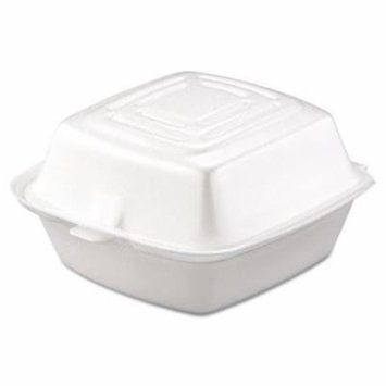Dart Carryout Food Container, Foam, 1-Comp, 5 1/2 x 5 3/8 x 2 7/8, White, 500/Carton
