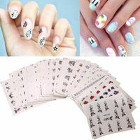 50pcs 3D Flower Design Nail Art Manicure Tips Stickers Decals DIY Decoration US