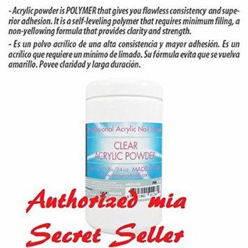 Mia Secret Clear Acrylic Powder 1.5 lbs Acrilico transparente 24oz Free Expedited Shipping