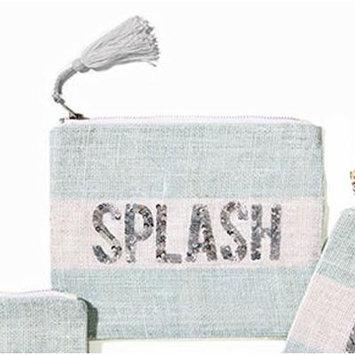 Two's Company Seaside Blue Sequin Makeup Bag (Splash)