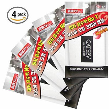 GATSBY blotting papers Clean and Clear Oil Control Film Review (pack of 4 - total 280 sheets)