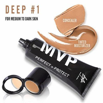 Beauty For Real MVP Perfect + Protect Tinted Moisturizer SPF25 (45 ml/1.5 fl oz)+ Concealer (1.5 g/0.05 oz) 2 in 1 (Deep #1)