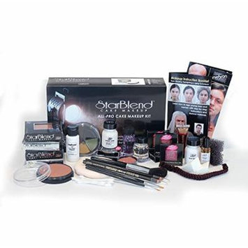 Mehron StarBlend Cake Makeup - All-Pro Makeup Kit - Everything A Professional Makeup Artist Needs For Stage, Film, Video & Photography - Step-By-Step Instructions Included - For Dark Complexions
