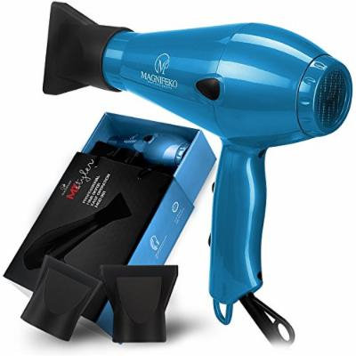 1875W Professional Hair Dryer with Ionic Conditioning - Powerful, Fast Dry Blow Dryer - 2 Speeds, 3 Heat Settings Blue hairdryer