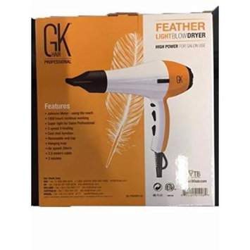 Global Keratin GK Hair Professional FEATHER LIGHT Hair Blow Dryer - New!