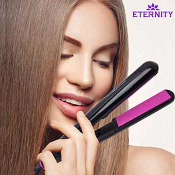 ETERNITY Professional Tourmaline Ceramic Flat Iron Hair Straightener for All Hair Types,1 Inch Floating Plate to Create Shiny, Silky Straight Hair