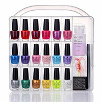 MAKARTT Portable Nail Polish Organizer Holder for 36 bottles- with Large Separate Compartment for Tools, Universal Space Saver