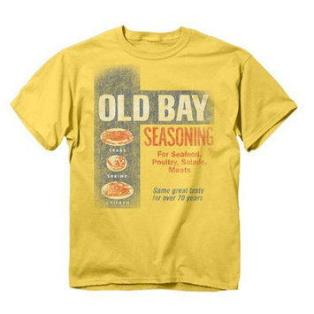 Original Old Bay Seasoning Can Logo, Banana Yellow T-Shirt (Medium)