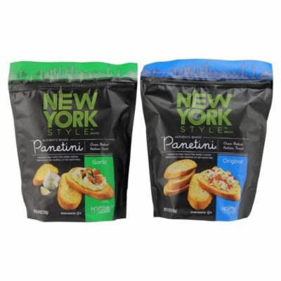 New York Style Panetini Garlic and Original Oven Baked Italian Toast 4.75-ounce Variety Pack
