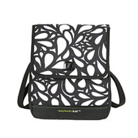 Rachael Ray Serena Lunch Sack, 9 1/4in.H x 8in.W x 9in.D, Black/White