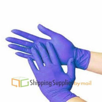 Powder-Free Nitrile Exam Gloves Blue Medical Grade, Latex Rubber Free, Disposable Medium 3.5 Mil Box of 100 by SSBM