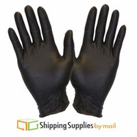 Disposable Black Nitrile Powder Free Non-Latex Medical Gloves, Large, 4 Mil 9000-Count by SSBM