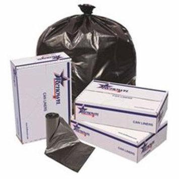 RENOWN 15 GAL. LOW-DENSITY TRASH BAGS, 24 IN. X 32 IN., 0.7 MIL, BLACK, 50/ROLL, 10 ROLLS/CASE
