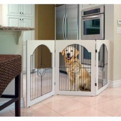 Majestic Pet Products Universal Freestanding Wood & Wire Pet Gate