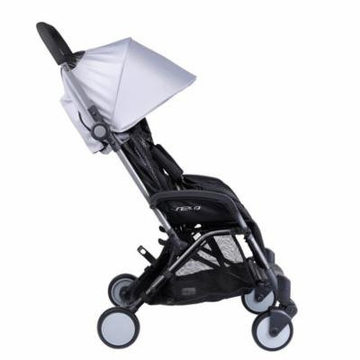 Pali Sei.9 Compact Travel Stroller Classic in Montreal Gray - Travel Bag Included