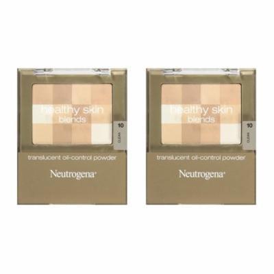 Neutrogena Healthy Skin Translucent Oil-Control Powder, Clean 10, 0.2 Oz (Pack of 2) + Schick Slim Twin ST for Dry Skin