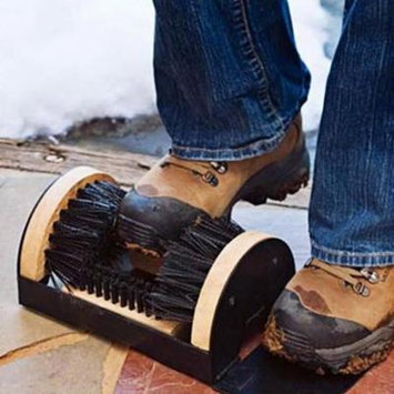 Hifashion Sneakers Floor Mounted Mud Dirt Brush Cleaner,Black HFON