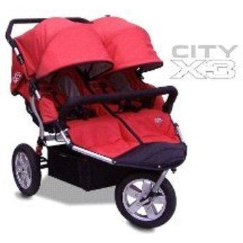 Tike Tech Double City X3 Swivel Stroller, Alpine Red